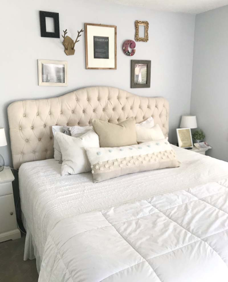 Bedroom prepared for an open house