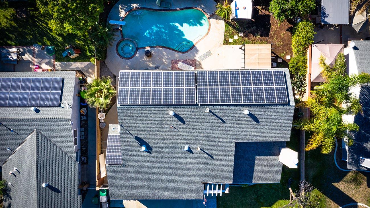 Aerial View - 4689 Romola Ave La Verne